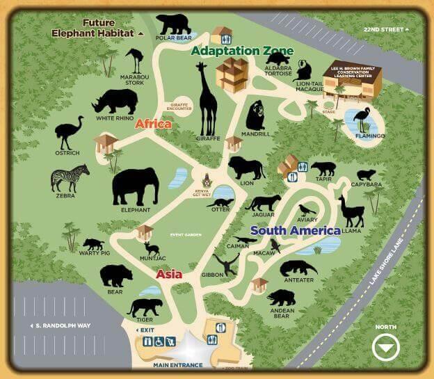 Zoo map layout